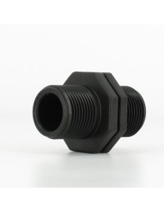 Double BSP Adapter Male/Male PP 3/4 inch - short BSP