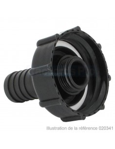 """Raccord cannelé droit - Sans écrou - Ø 13 mm - F 2"""" S60X6"""