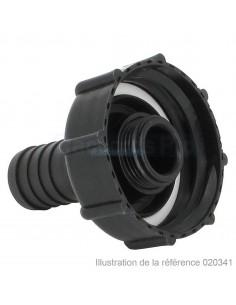 """Raccord cannelé droit - Sans écrou - Ø 15 mm - F 2"""" S60X6"""