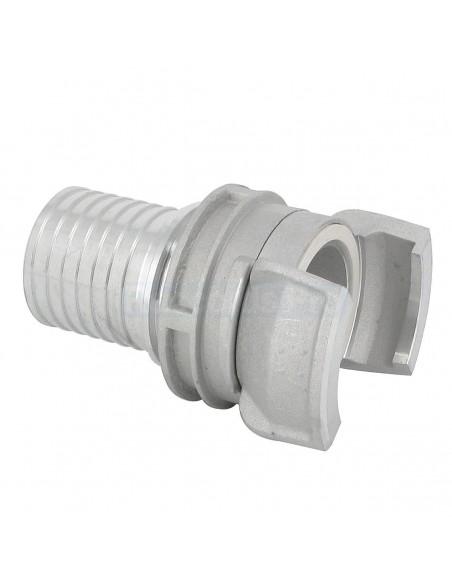 Demi-raccord symétrique à verrou - Aluminium - Douille annelée