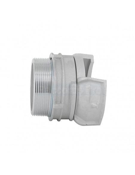Demi-raccord symétrique à verrou - Aluminium - Douille filetée mâle
