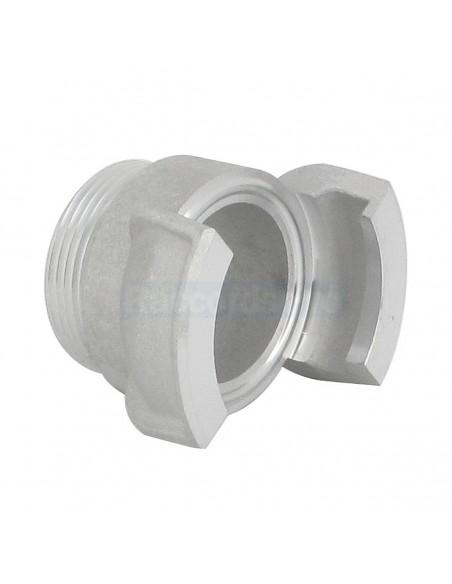 Demi-raccord symétrique sans verrou - Aluminium - Douille filetée mâle