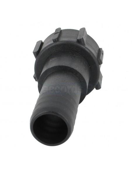 """Raccord cannelé droit - écrou - Ø 38 mm - F 2"""" NPS"""