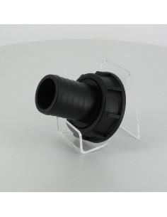 """Raccord cannelé droit - écrou - Ø 40 mm - F 2"""" pas gaz"""