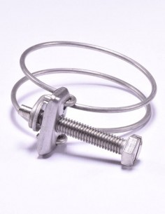 Collier de serrage à double fils en Inox